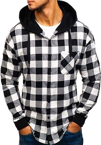 Jueshanzj - Camisa con Capucha de Manga Larga para Hombre ...