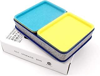 $49 » Welaxy Felt Drawer Organizer Trays with lids Desktop Organizer Bins Storage bin for Junk Makeup Stationery Organize, 3- Pack