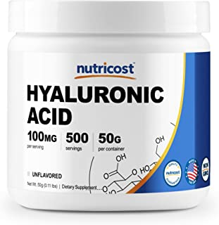 Nutricost Hyaluronic Acid Powder 50 Grams, High Quality, Non-GMO and Gluten Free