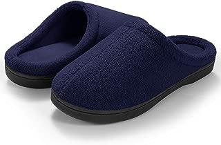 Women's Comfort Memory Foam Slippers, Cotton House Slippers Indoor Slip On Anti-Skid Sole