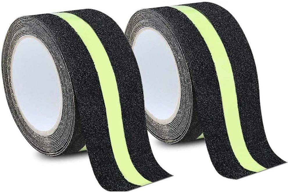 MELIFE Anti Slip Traction Tape 2 Pack, None Skid Glow in The Dar