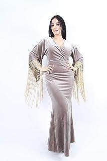 Opera Straight Velvet Dress For Women - Grey