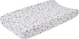 ED Ellen DeGeneres Painterly Floral - Soft Plush Multi Floral Velboa Changing Pad Cover, Pink, White, Butter, Sage, Pink, White, Green, Blue