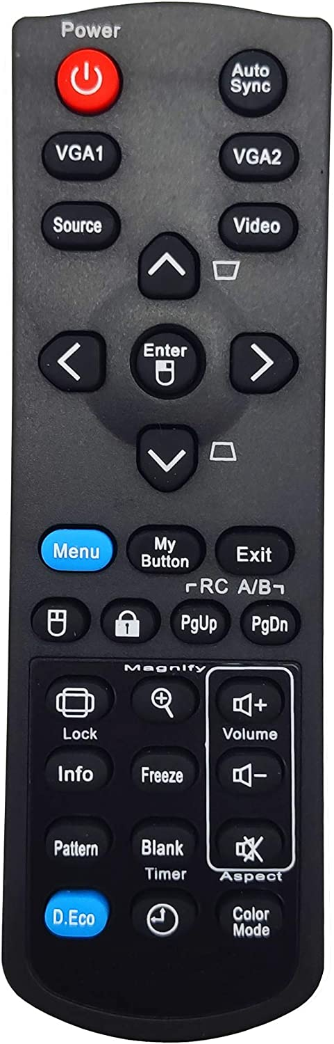 INTECHING Projector Remote Control for ViewSonic PJD5126, PJD5132, PJD5134, PJD5226W, PJD5232L, PJD5234L, PJD5533W, PJD6223, PJD6235, PJD6245, PJD6353, PJD6543W, PJD6653W, PJD7820HD, PJD7822HDL