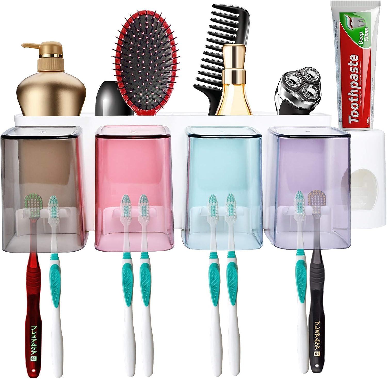 Milkary Toothbrush Holder Wall Surprise price Mounted for Capacity Large in Bat Regular dealer