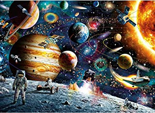 KWYZ Puzzles 1000 Pieces for Adults Kids – Planets in Space Jigsaw Puzzle Toy, Artwork Art Large Size (27.56 in x 19.69 in)