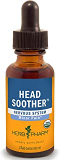 Herb Pharm Certified Organic Head Soother Liquid Herbal Formula for Minor Pain Relief, 1 Fl Oz