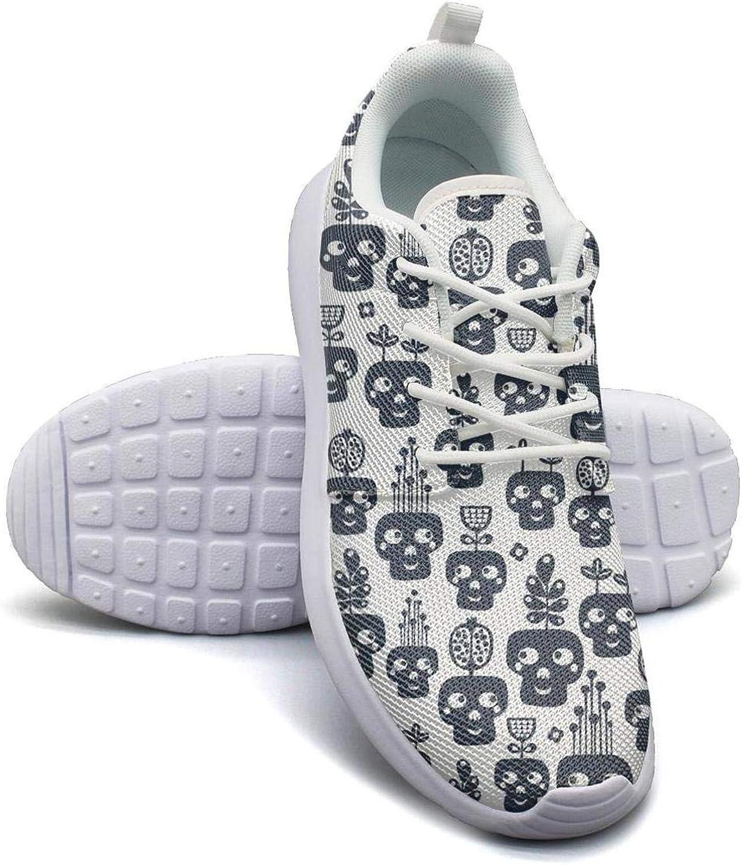 Gjsonmv Monochrome Skull Cactus mesh Lightweight shoes Women Casual Sports Badminton Sneakers shoes