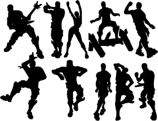 LHKSER Game Wall Decal Wall Sticker Poster Floss Dancing Decal Nursery Boys Room Wall Vinyl Decal Game Stickers (Black)(23.6
