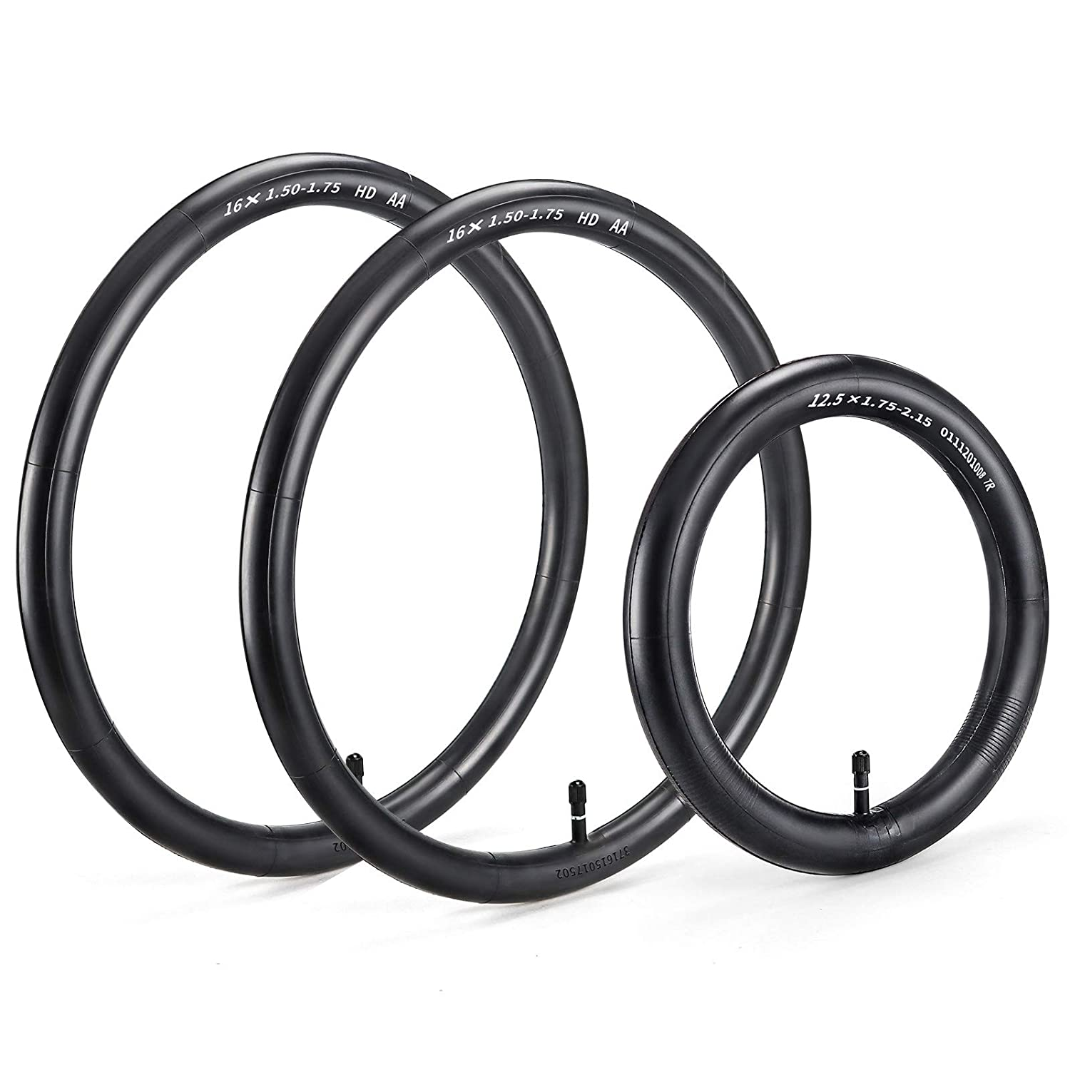 Tire Inner Tubes Two 16'' Back and One 12.5'' Thorn Resistant Front Wheel Replacement, by Cenipar, for All BOB Revolution, Royalbaby, and More Strollers, Set of Three