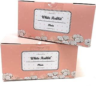 White Rabbit Premium Cotton Pad Authentic Korean 100% cotton- box of 200 cotton Pads per box- Untreated, Grown Free of Pesticides and Chemical Fertilizers (2 Pack, Plain)