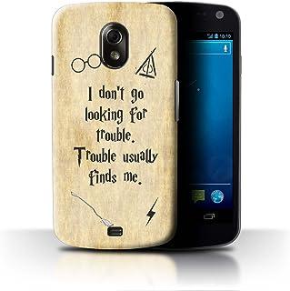 eSwish Carcasa/Funda Dura para el Samsung Galaxy Nexus 3/I9250 / Serie: Escuela de Magia Cotizaciones - Trouble Finds Me