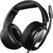 Gaming Headset for PS4, Xbox One, PC, Professional 50mm Driver, 3.5mm Surround Stereo Game Headphones with Noise Cancelling Mic & Volume Control for Nintendo Switch, Laptop iPad & Video Game