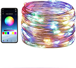 Gluckluz Fairy Lights Smart Bluetooth Indoor String Lighting Decoration Lights Copper Wire for Bedroom Outdoor Garden Part...