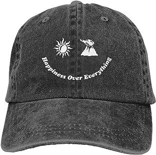 Jhene Aiko Happiness Over Everything Hat Denim Washed Baseball Cap Dad Ball Hat Adjustable Trucker Cap for Men Women Black