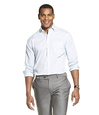 Van Heusen Traveler Stretch Long Sleeve Button Down Blue/White/Purple Shirt