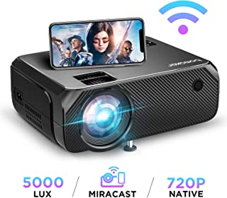 BOMAKER HD TV Projector, 3,600 Lux LED HDMI Projector with Carrying Bag, 1080P and 250'' Display Supported, Compatible wit...
