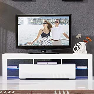 Henf TV Stand with LED Lights,Modern TV Cabinet with...
