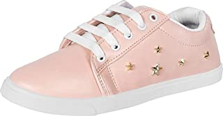 Shoefly Pink-766 Casual Sneakers Shoes for Women