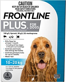 FRONTLINE PLUS For Dogs 10 To 20 Kg BLUE Pack 6 Pipettes