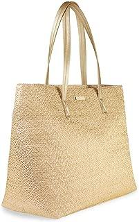 Beach Bag Natural Straw Metallic Women's Large Callie Linen Lined Tote Bag