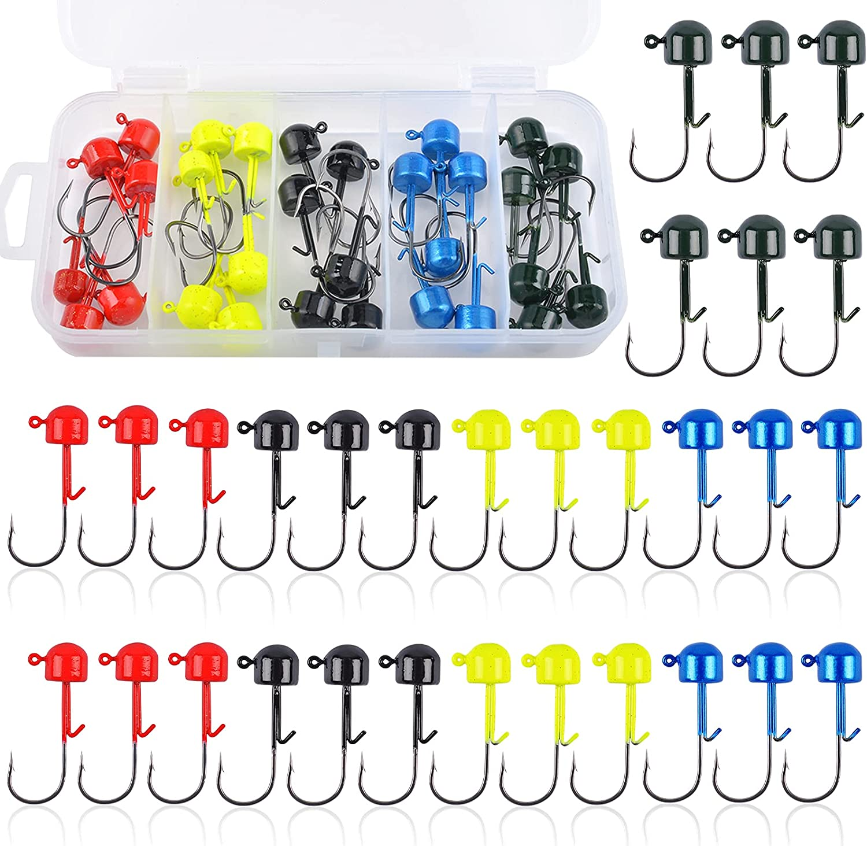 30 Pack Ned Rig Mushroom Overseas parallel import regular item Head Ba Popular products Kits Kit Jig Baits for