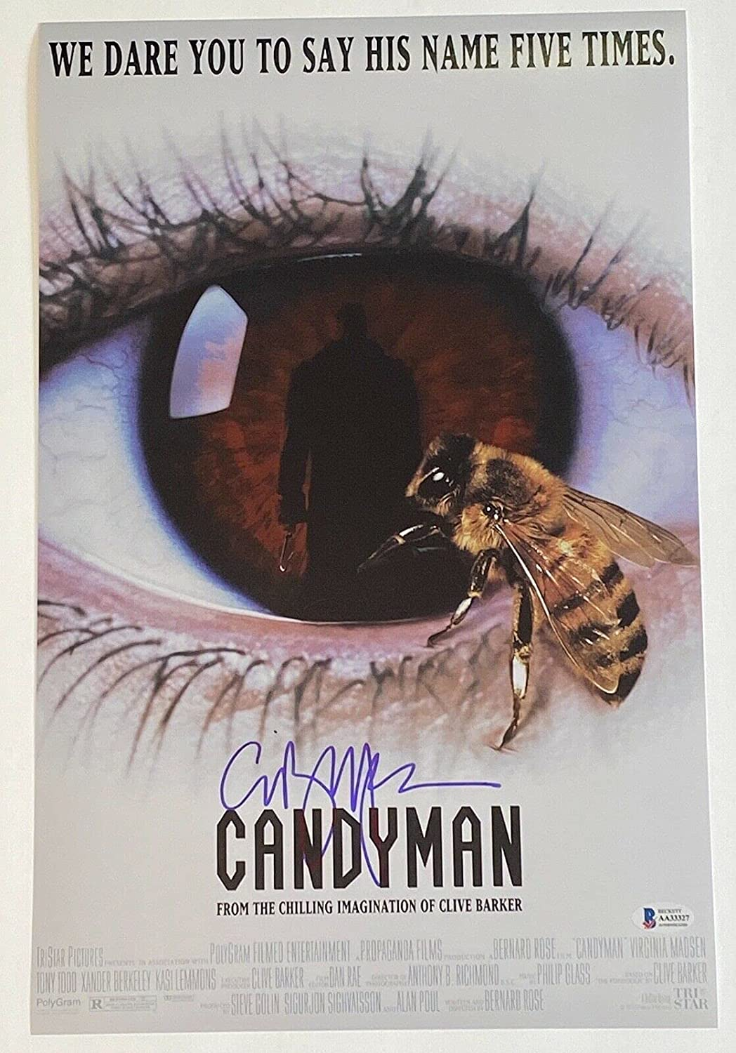 Clive Barker Signed Autographed Candyman Poster Movie store 2021new shipping free shipping 11x17 Phot