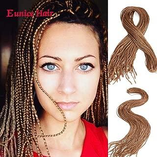 6 Packs Thin Box Braids Crochet Hair Extension 28 Inch Long Synthetic Hair Crochet Braid 3S Box Braiding (#27)