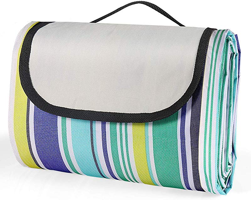 MiToo Extra Large Picnic Outdoor Blanket Great For Camping Outdoor Blanket With Backing For Family Concerts Beach Park