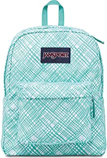 Superbreak Backpack (Aqua Dash Jagged Plaid)