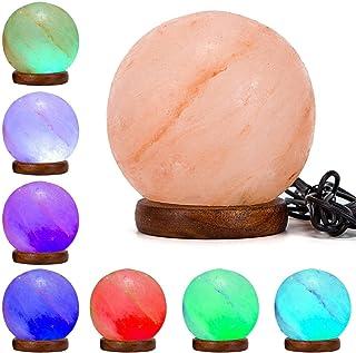 Klass Home Collection® - Lámpara LED de sal de roca natural del Himalaya, multicolor