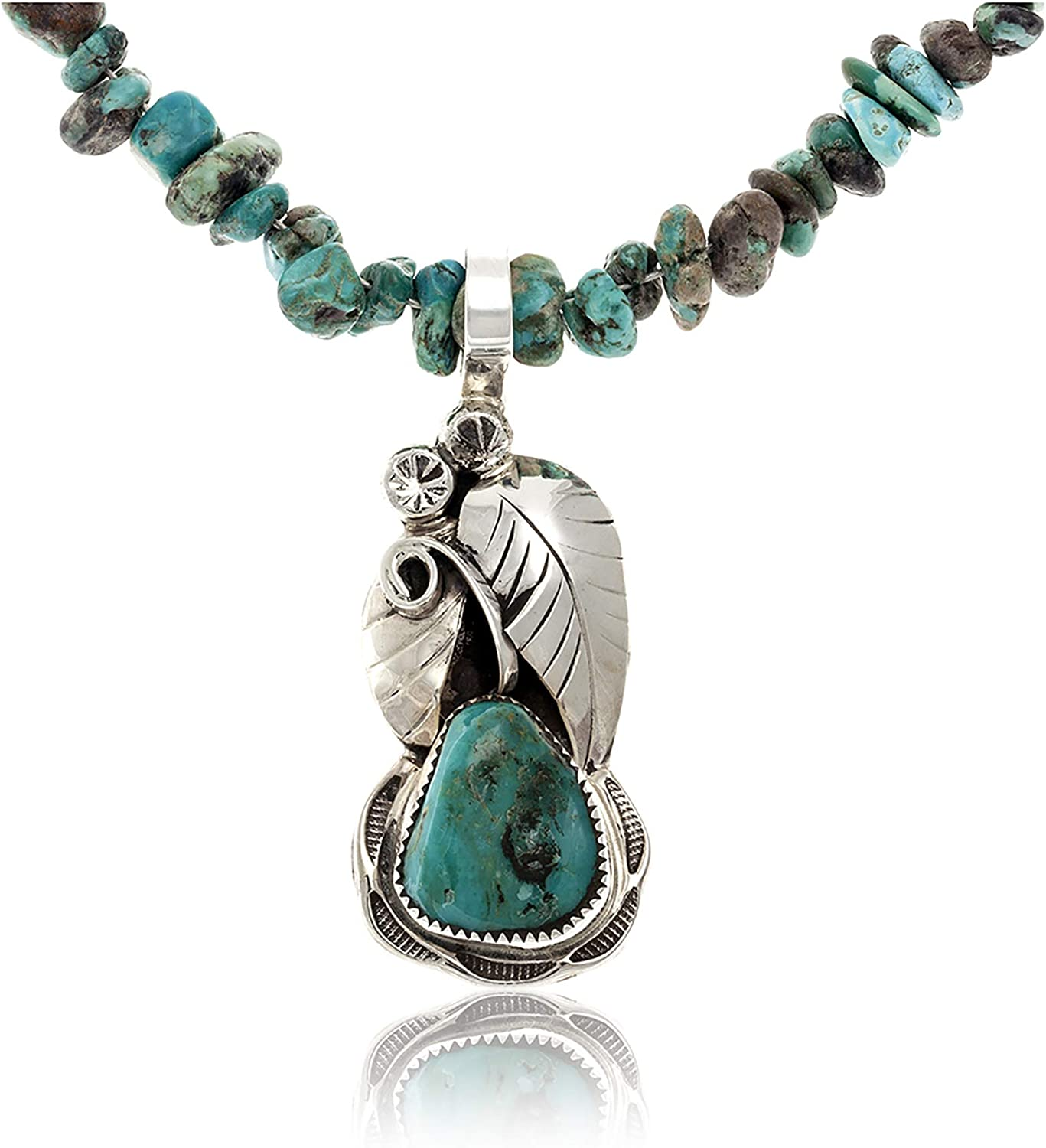 Many popular brands Native-Bay $480Tag Silver Certified Turquoise Don't miss the campaign Necklace Navajo