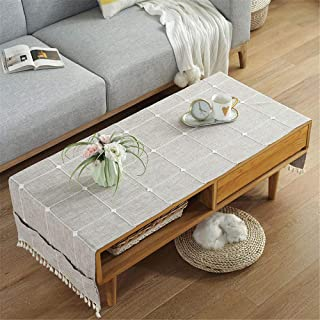 LMWB Bordsskydd, bordsduk, TV-skåp skydd handduk vardagsrum matbord soffbord tyg enkel bomull och linne rektangulär-G_75 x...