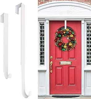 HEYHOUSE Wreath Hanger,Christmas Wreath Hanger for Front Door Adjustable from 14.9-25 Inches, Larger Door Wreath Hanger Fe...
