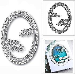 HLIAN Nesten Ovale Pine Naalden Frame Metalen Cutting Dies voor DIY Scrapbooking Card Making Decor Embossing Craft
