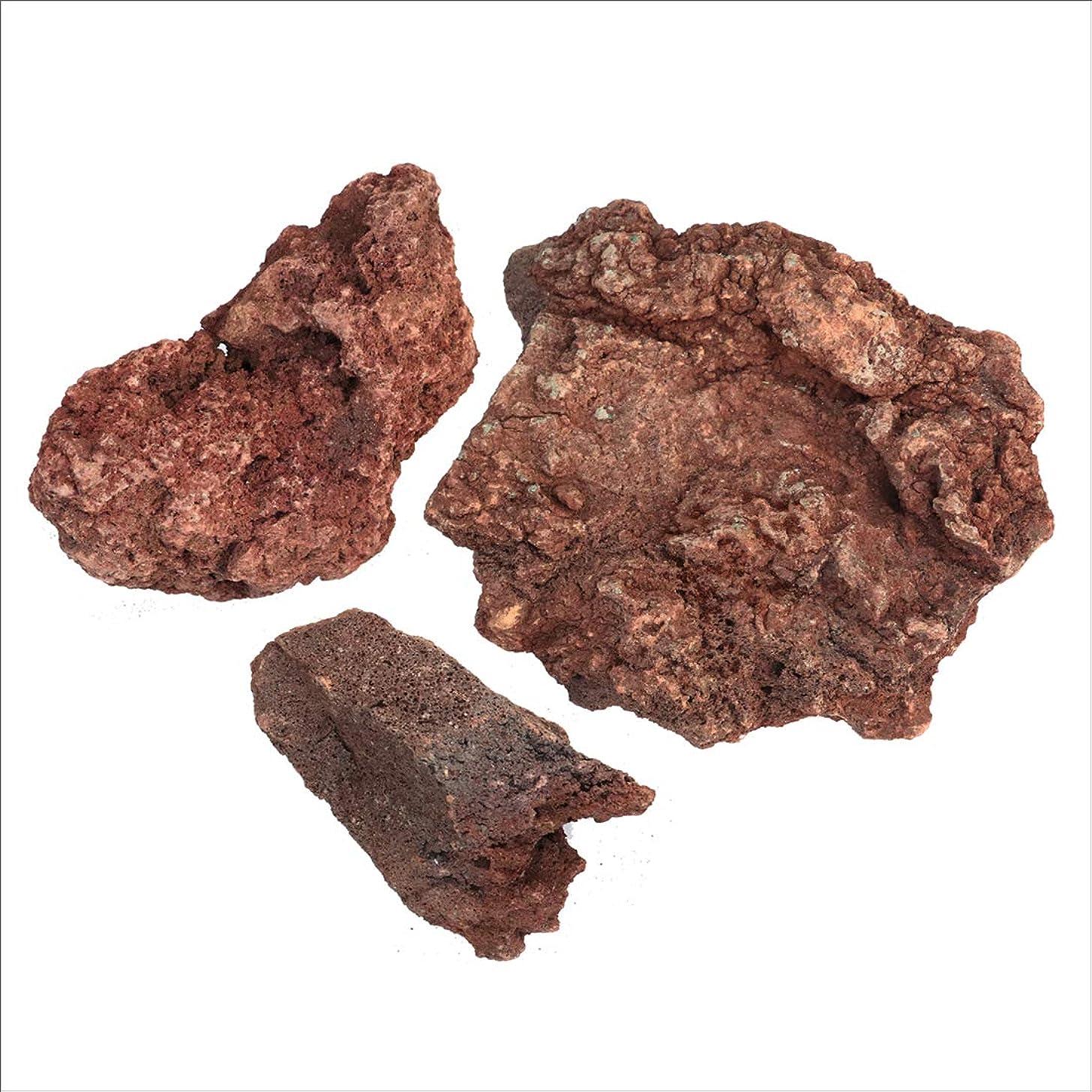 コレクションコイルハチ溶岩石 レッド 150-300mm 10kg