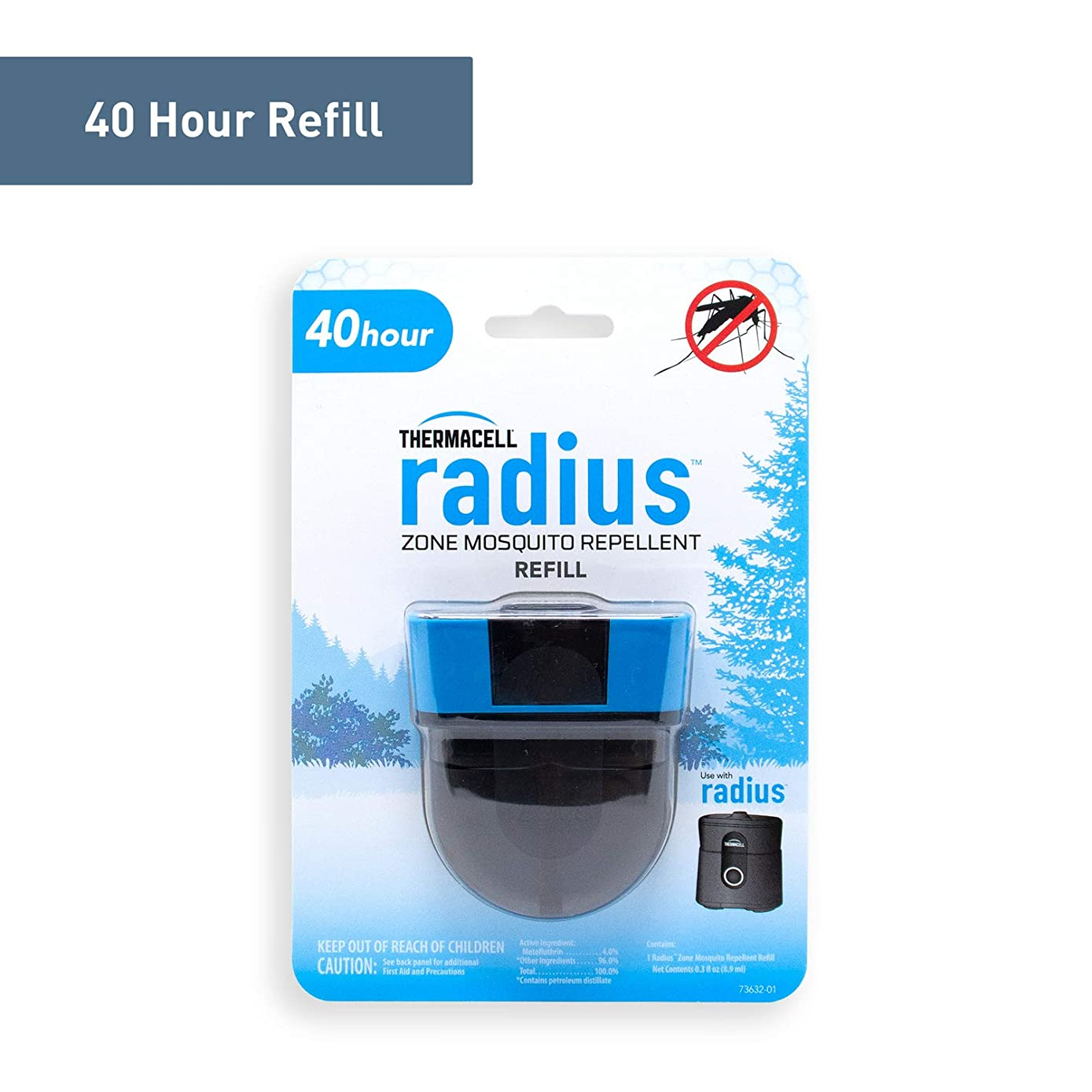 Radius Zone Mosquito Repellent Refills by Thermacell, Use with Radius Zone Mosquito Repellent; Fully Sealed Liquid Refill Keeps Insects at Bay; DEET-Free, Scent-Free, No Spray, No Mess