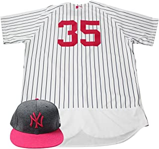 f643d9b6 Michael Pineda New York Yankees Game Issued #35 Mother's Day Jersey & Hat  Set (