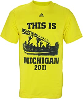 University of Michigan Wolverines NCAA Men's Short Sleeve 2011 Football Home Schedule T-Shirt, Bright Sun Yellow