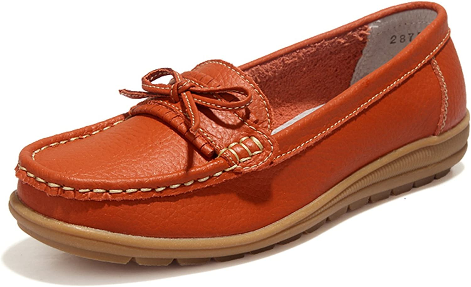 UNN Women Loafers Casual Moccasin Flats Slip On Boat shoes Anti-Skid for Driving Walking