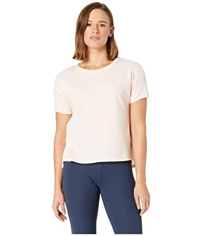 The North Face Short Sleeve Emerine Top (Peach Whip Desert Stripe) Women