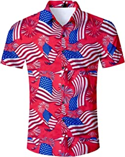 Best mens 4th of july button down shirts Reviews