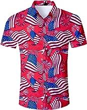 Fanient Mens Summer Hawaiian Shirt 3D Floral Print Short Sleeve Funky Button Down Graphic Aloha Dress Shirts for Casual