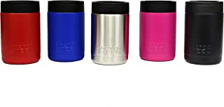 Premium Insulated Can Cooler - Durable Stainless Steel POWDER COATED Double Wall Vacuum Insulated - Keep your Drink Cold to the Last Drop - LIFETIME WARRANT - 5 Color Options - Pink