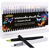 Vacnite 24 Colors Watercolor Markers Set and Water Pen