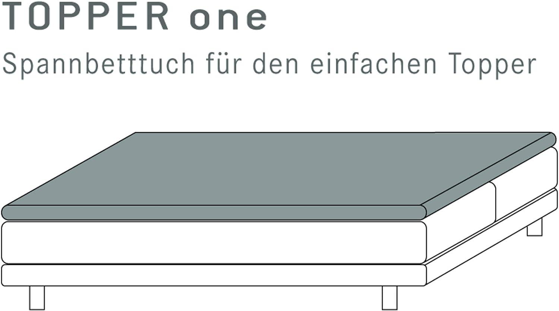 Kneer 22-8-160x2 Drap Housse, Blanc, 160x200x4-12cm Limone