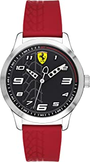Ferrari Men'S Red Dial Nylon Band Watch - 830447,