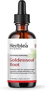 Sponsored Ad - Herblea Goldenseal Root Liquid Extract. 2 Ounce, Triple Strength Herbal Supplement Tincture. Organic, Vegan...