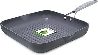 GreenPan Paris 11 Inch Ceramic Non-Stick Square Grill Pan, Gray - CC000042-001
