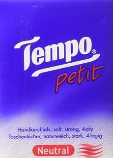 Tempo Pocket Facial Tissue Paper Hankies Handkerchief 36 Packs Neutral by starscreaming
